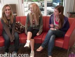 Minge eating Lara Brookes, Carmen Callaway and Jessie Parker