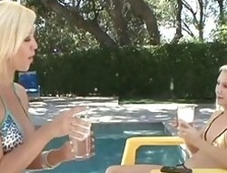 Breasty MILF seduces her hot blonde stepdaughter