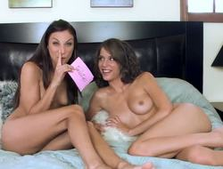 Celeste Star answer the questions in the behind the scenes interview with Malena Morgan. Need to say that both beauties are completely naked and surprise us with their astonishing forms.