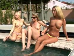 Hello boyz and girls! This day we've for you awesome update with three hot blondes Kiara Diane,Lux Kassidy and Samantha Ryan. They are lesbian babes and are in love with swimming!