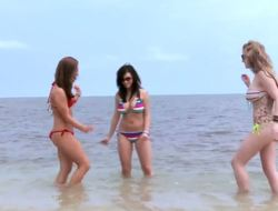 Exciting trinity - Gracie Glam, Jesse Capelli and Taylor Vixen are tanning at the beach. These honeys are too filthy and decided to go to the sea and clean their charms together.